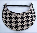 Black & Cream Houndstooth Jumbo Peak Flexi Visor