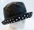 Black Wax with White Spots on Adjustable Brim