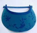 Electric Blue Lustre with Flowers Jumbo Peak Flexi Visor