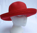Red Paper Sun Hat with Bow