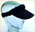 Black Plain Plaited Sun Visor