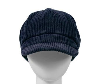 1d26c608317 Navy Cord Baker Boy Cap - Hats and Visors by Sunwiser