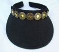Black Clip On Visor with Gold Coloured Discs