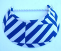 Electric Blue & White Jumbo Peak Flexi Visor