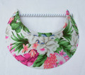 Tropical Flowers on Cream Jumbo Peak Flexi Visor