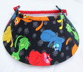 Cartoon Cats on Black Jumbo Peak Flexi Visor