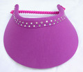 Purple Padded Swarovski Jumbo Peak Flexi Visor