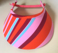 Multicoloured abstract Jumbo Peak Flexi Visor