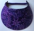 Mauve on Purple Flowers Foam Visor