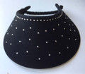 Crystal Bling Black Padded Band Flexi Visor