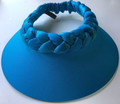 Deep Turquoise Out of Africa Plaited Visor with Shimmer in Band