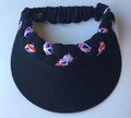 Black Union Jack Jumbo Peak Plaited Visor