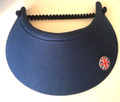 Navy Jumbo Peak Flexi Visor with Union Jack Ball Marker