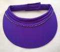 Iris/Purple Jumbo Peak crystal Velcro Visor