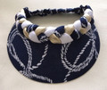 Navy Nautical Rope Plaited Jumbo Peak