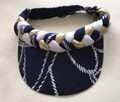 Navy Nautical Plaited Rope Standard Peak