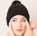 Black With Jet Sparkly Beanie