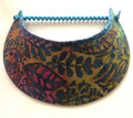 Rainbow  coloured Batik Jumbo Peak Flexi Visor