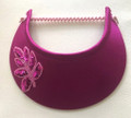 Fuschia With Sequin Leaf Jumbo Peak Flexi Visor