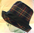 Dark Navy & Tartan Wax Waterproof Hat