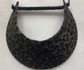 Olive Animal Print Jumbo Peak Flexi Visor