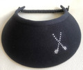 Navy Jumbo Flexi Visor with Swarovski Clubs