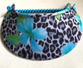 Hibiscus & Leopard Print Jumbo Peak Flexi Visor