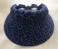 Blue Leopard Print Jumbo Peak Flexi Visor