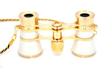 Opera Glasses- Whitew/ Chain