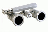 Opera Glasses- Platinum & Silver w/ Handle