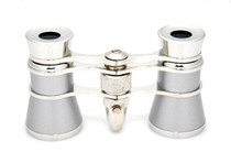 Opera Glasses- Platinum & Silver w/ Flashlight