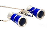Opera Glasses- Blue  w/ Chain + Flashlight