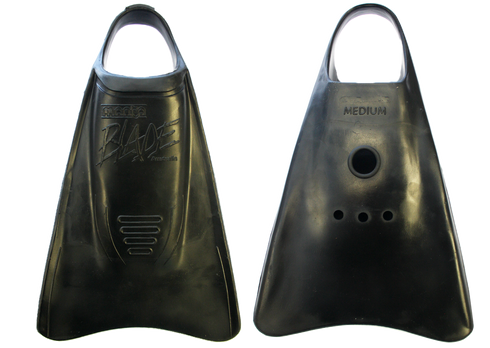 Manta Blade swimfins. Sizes XS through XL. Comfy, wide footpockets combine with powerful forward section to give superb, comfy propulsion system. Proven peformers.