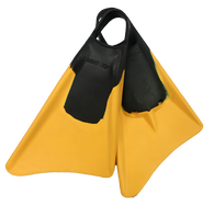 4FIT Pro Bodyboard Fins - dolphin cut left and right. Comfortable wide foot pocket plus engineered rigid rails provide high propulsion strength. Drainage holes in foot pocket. Floating fins.