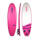 "2020 Elnino Diva - pink deck and white slick with ""diva"" pattern. With single swivel legrope and detachable triple fin system."