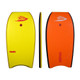Manta Sonic - Yellow deck with orange slick. Offers Manta quality in entry level bodyboards. Comes with plug, web leash and a lot of style. Start here.