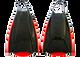 Manta Clone swimfins - rigid responsive side rails and toe piece. Comfy wide footpocket. Sizes xs/s/m/ml/l/xl