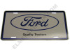 FO001-LP Ford Tractors License Plate (Blue / White)