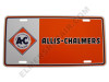 AC003-LP  Allis Chalmers License Plate