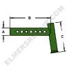ER- AR50962 Wide Front Axle Spindle Knee(RH/LH)