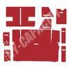 ER- C86R Cab Interior Kit without Headliner - Red