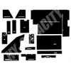 ER- C88 Cab Interior Kit without Headliner - Black