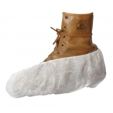 White Non-Skid Boot Covers   Safetyapparel.ca