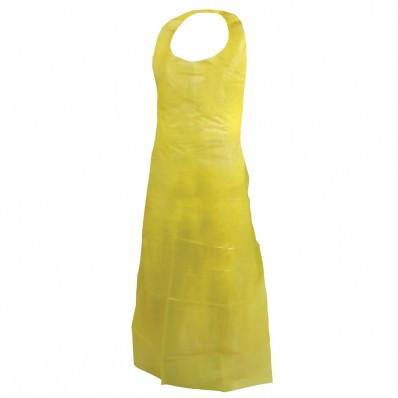 Disposable Polyethylene Apron (Yellow) | Safetyapparel.ca