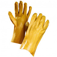 Premium PVC Yellow 12-Inch Gauntlets | Safetyapparel.ca