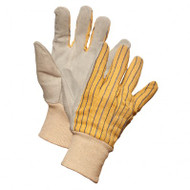 Ladies' Split Leather Striped Knitwrist Gloves | Safetyapparel.ca