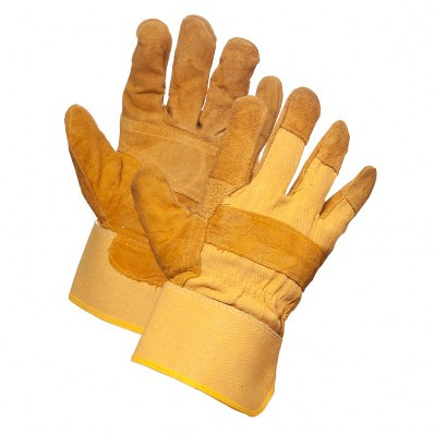 ForceField Awesome Brown Split Leather Gloves | Safetyapparel.ca