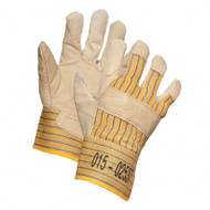 Ladies' Grain Cowhide Premium Leather Gloves With Safety Cuffs | Safetyapparel.ca