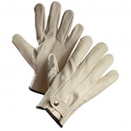Cowhide Leather Button Snap Wrist Gloves | Safetyapparel.ca