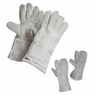 Unlined Economy Split Leather Welder Gloves With Leather Cuff | Safetyapparel.ca